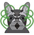 comic villain symbol in dark pipes mask vector image
