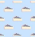 seamless pattern of cakes pies - yogurt cream vector image