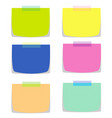 six note papers in multiple colors vector image