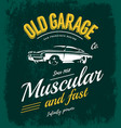 vintage muscle car logo concept isolated on vector image