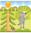 wolf on the forest vector image