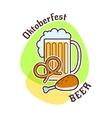 Oktoberfest beer emblem vector image
