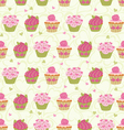 cupcakes seam vector image vector image