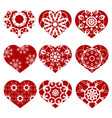romantic red heart set vector image vector image