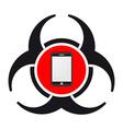 Mobile virus vector image