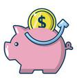 pig money icon cartoon style vector image