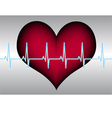 red heart blue white cardigram vector image