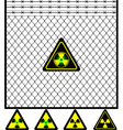 second mesh fence vector image