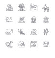 summer vacation family holiday beach sunny vector image