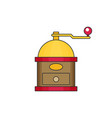 coffee mill flat vector image