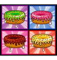 Flavors Donut Melted vector image