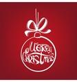 Christmas ball symbol drawn vector image