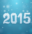 2015 Ice New Year background vector image