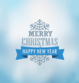 Christmas greeting card Christmas emblem vector image vector image