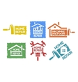 A set of emblem on the topic of home repair vector image