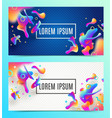 abstract background banners vector image