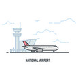 airplane in airport vector image
