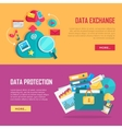 Data Exchange and Protection Banners Set vector image