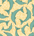 Dolphin pattern vector image