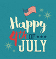 independence day usa design poster vector image