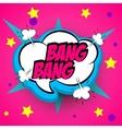 Pop art pink comment bang vector image