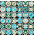 Set of color Arabic ornamental symbols vector image