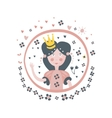 Princess Fairy Tale Character Girly Sticker In vector image vector image