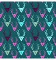 Seamless pattern with hand drawn deers vector image