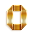 Letter metal gold ribbon - O vector image vector image