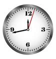 metal clock icon vector image