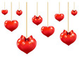 Heart With Red Bows vector image