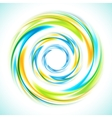 Abstract blue green and yellow swirl circle bright vector image vector image