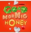 Good morning honey vector image