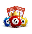 lottery icon realistic objects eps 10 vector image vector image