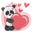 Panda with heart vector image