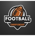 American football sports logo emblem vector image