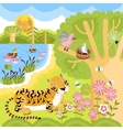 animals on the forest vector image