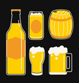 beer icon line cartoon vector image
