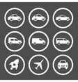 Flat car icons set vector image