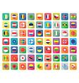 flat world icons vector image