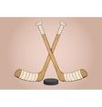 Ice hockey sticks vector image