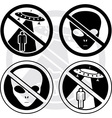 set of danger UFO signs vector image vector image