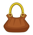 Woman bag icon cartoon style vector image
