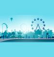 wheel amusement parks vector image