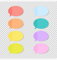 sticky office paper sheets notes speech bubble vector image