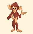 cartoon monkey smiling vector image