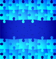 Blue puzzle background vector image vector image