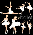 ballet silhouettes set vector image vector image