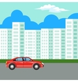 Modern and new apartment building vector image vector image