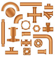 Pipelines and fittings vector image